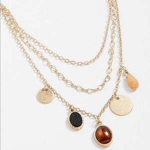 Maurices layered necklace with stone accents